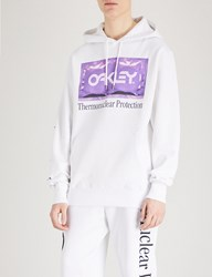 Oakley Thermonuclear Printed Cotton Jersey Hoody White