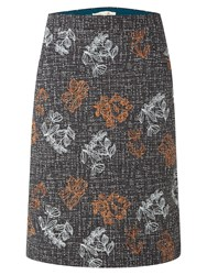 White Stuff Veg Patch Tweed Emb Skirt Grey