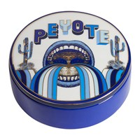 Jonathan Adler Druggist Peyote Round Box Multi Blue