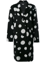 Boutique Moschino Oversized Spotted Coat Black