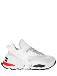 Dsquared Giant Leather And Mesh Low Top Sneakers White