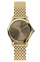 Emporio Armani Swiss Made Round Bracelet Watch 28Mm Gold Bronze