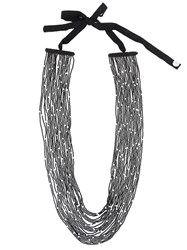 Maria Calderara Long Necklace Black