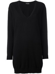 Twin Set V Neck Loose Fit Jumper Black