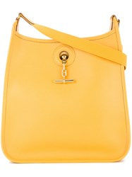 Hermes Vintage Vespa Pm Shoulder Bag Yellow And Orange