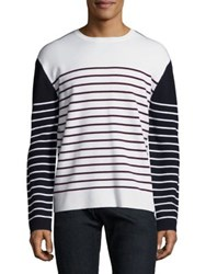 Burberry Colorblock Striped Pullover Navy