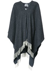 Rodebjer Fringed Cape Grey
