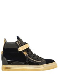 Giuseppe Zanotti 20Mm Bangle Velvet And Patent Sneakers