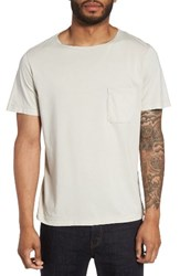 Theory Men's Boatneck Pocket T Shirt Pumice
