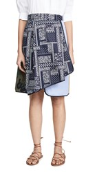 Harvey Faircloth Asymmetrical Skirt Navy