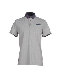 Fred Mello Topwear Polo Shirts Men Light Grey
