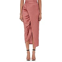 Sies Marjan Women's Plisse Wrap Pencil Skirt Pink