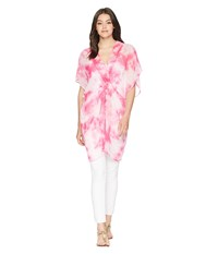 Betsey Johnson Knot Today Twist Front Poncho Pink Clothing