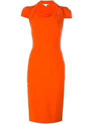 Antonio Berardi Fitted Dress Yellow And Orange
