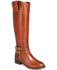 Inc International Concepts Frankii Riding Boots Only At Macy's Women's Shoes Cognac