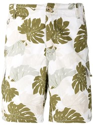 Ermanno Scervino Palm Print Pocket Shorts Green