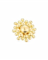 Devon Leigh 18K Gold Plated Sunburst Ring