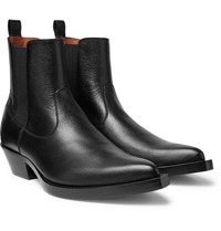 Givenchy Texas Full Grain Leather Chelsea Boots Black