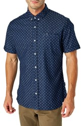 7 Diamonds Liquid Movement Slim Fit Sport Shirt Navy