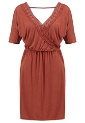 Khujo Tamar Jersey Dress Rusty Red
