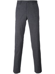 Incotex Ribbed Tapered Trousers Blue