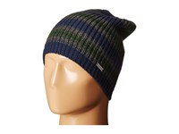 Michael Michael Kors Marl Stripe Slouchy Beanie Midnight Charcoal Pine Beanies Multi