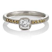 Malcolm Betts Women's Mixed Diamond Ring Yellow Silver No Color Yellow Silver No Color