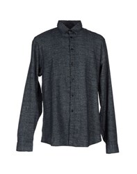 Folk Shirts Shirts Men Dark Blue