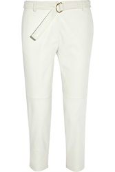J.Crew Collection Cropped Leather Tapered Pants