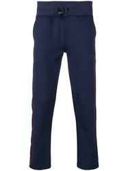 Hydrogen Drawstring Side Stripe Trousers Blue