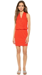 Lanston Surplice Mini Dress Fire