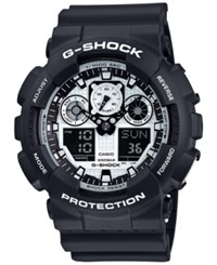 G Shock Men's Analog Digital Black And White Black Bracelet Watch 55X51mm Ga100bw 1A