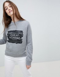 Cheap Monday Win Paint Box Logo Sweatshirt Purple