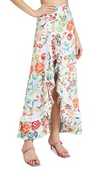 All Things Mochi Clara Skirt White Floral