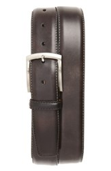 Magnanni Men's Big And Tall Tanning Leather Belt Grey