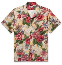 Engineered Garments Camp Collar Printed Poplin Shirt Multi