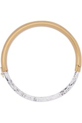 Isabel Marant Gold Tone Marble Effect Resin Necklace White