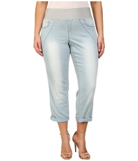 Dkny Plus Size Sculpted Leggings Rolled Crop In Toned Wash Toned Wash Women's Jeans Blue
