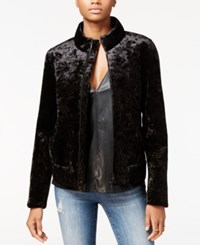 Rachel Roy Velvet Bomber Jacket Only At Macy's Black