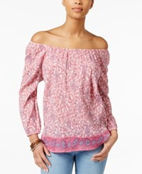 American Living Printed Peasant Blouse Only At Macy's Multi