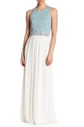 City Triangles Sleeveless Lace Embellished Dress Green