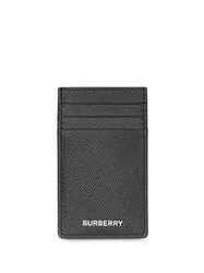 Burberry Grainy Leather Card Case Black