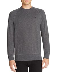 Fred Perry Cotton Crewneck Sweatshirt Graphite Marl