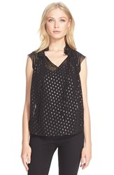 Women's Rebecca Taylor Sleeveless Polka Dot Top