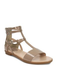 Tahari Wave Flat Leather Sandals Burch