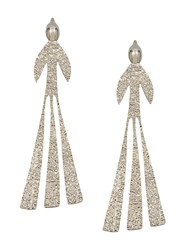 J.W.Anderson Jw Anderson Hammered Bird Earrings Silver
