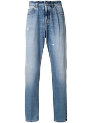 Eleventy Faded Slim Fit Jeans Blue