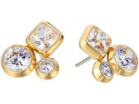 Michael Kors Tone And Crystal Cluster Stud Earrings Gold Earring