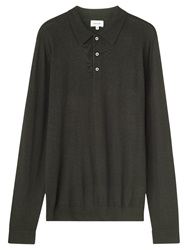 Jigsaw Merino Polo Shirt Forest