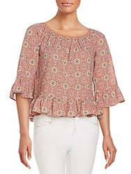 Sanctuary Julia Print Peasant Top Vintage Spring